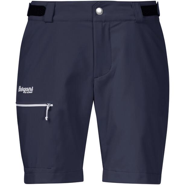 Bergans Slingsby LT Softshell-shortsit Naiset, dark navy/white