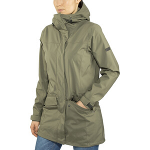 Bergans Oslo 2L Coat Women, green mud green mud