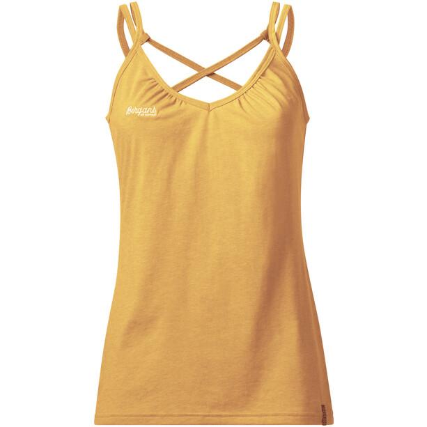Bergans Cecilie Wool Singlet Dam sunflower melange/white