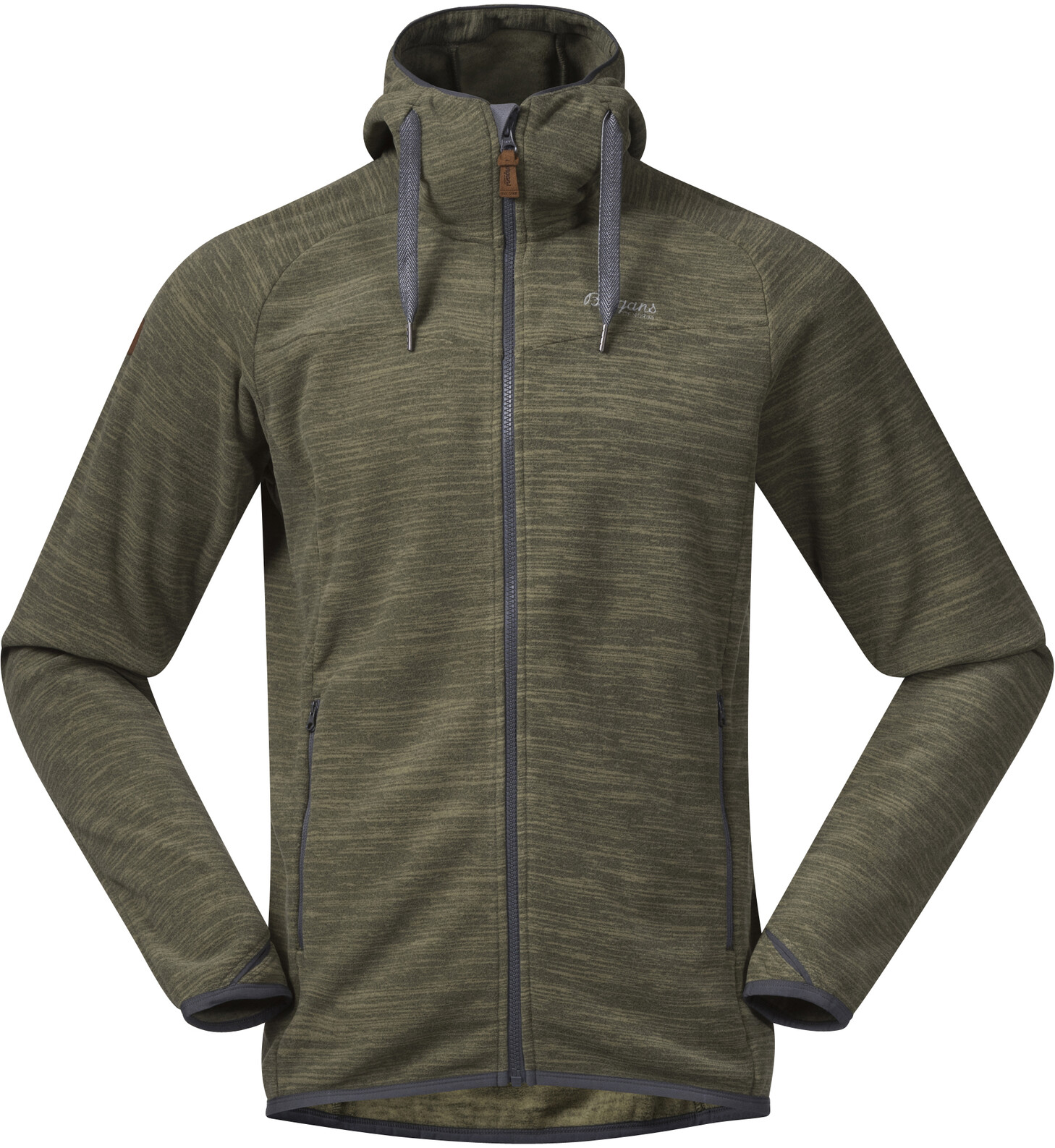 Bergans Hareid Fleece Jacket Herr aluminium melange