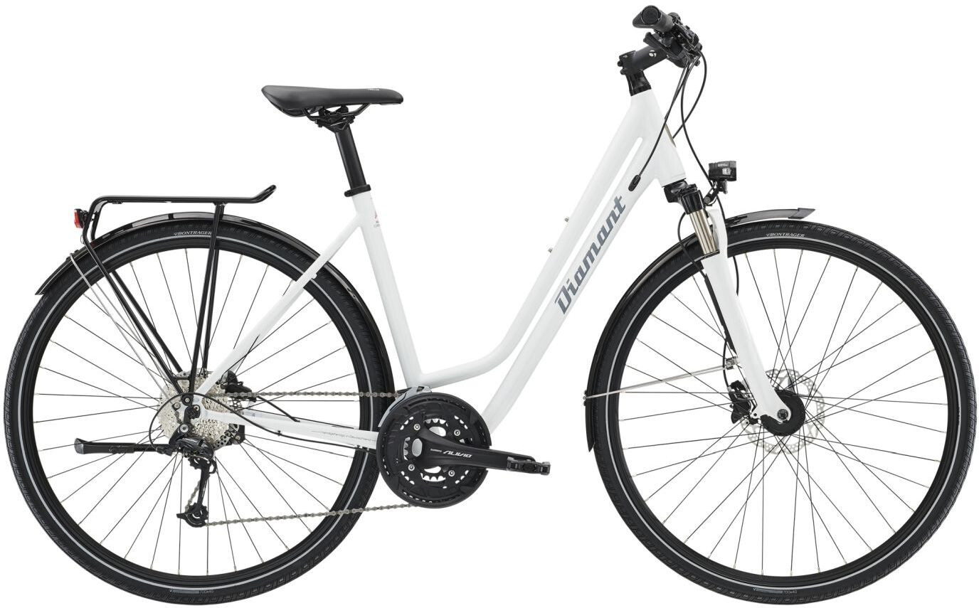 diamant elan deluxe bicicletta da trekking wiege bianco su. Black Bedroom Furniture Sets. Home Design Ideas