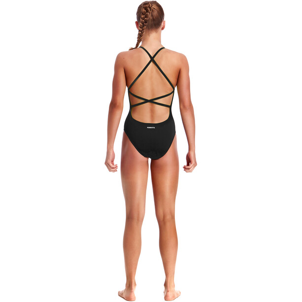 Funkita Strapped In One Piece Badeanzug Mädchen still black solid
