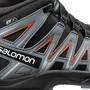 Salomon XA Pro 3D Mid CSWP Kengät Nuoret, black/stormy weather/cherry tomato