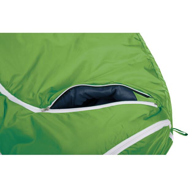 Grüezi-Bag Biopod Wool World Traveller Schlafsack Kinder holly green