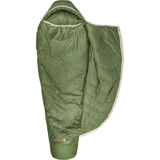 Grüezi-Bag Biopod DownWool Nature Sac de couchage, basil green
