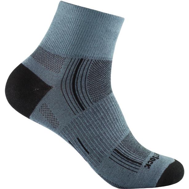 Wrightsock Stride Quarter Socken grey