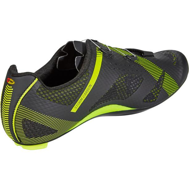 Northwave Storm Carbon Schuhe Herren black/yellow fluo