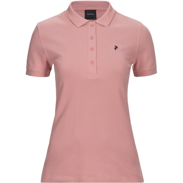 Peak Performance Classic Pique Shirt Damen warm blush