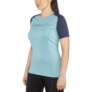 Norrøna Fjørå Equaliser Lightweight T-Shirt Damen trick blue trick blue