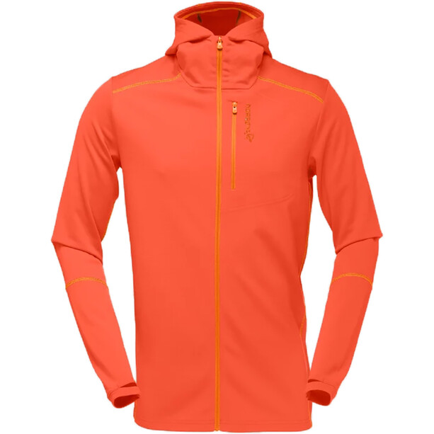 Norrøna Trollveggen Warm/Wool1 Zip Hoodie Herr burnt orange