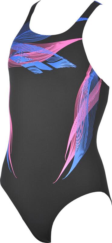 arena Mask One Piece Swimsuit Girls black-pix blue 164 2018 Badeanzüge, Gr. 164