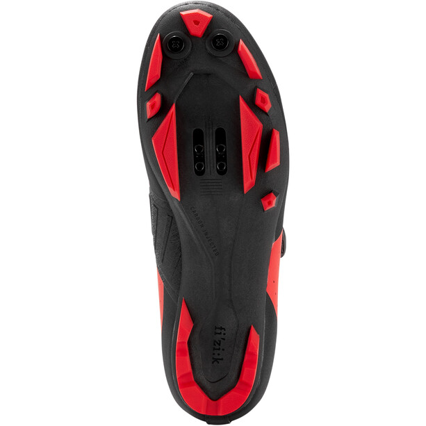 Fizik Vento Overcurve X3 Chaussures VTT, rouge/noir