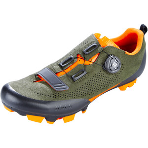 Fizik Terra X5 Suede MTB Schuhe military grün/orange fluo military grün/orange fluo