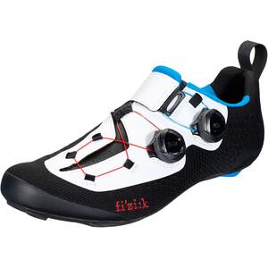 Fizik Transiro Infinito R1 Knit Triathlonschuhe weiß/schwarz weiß/schwarz