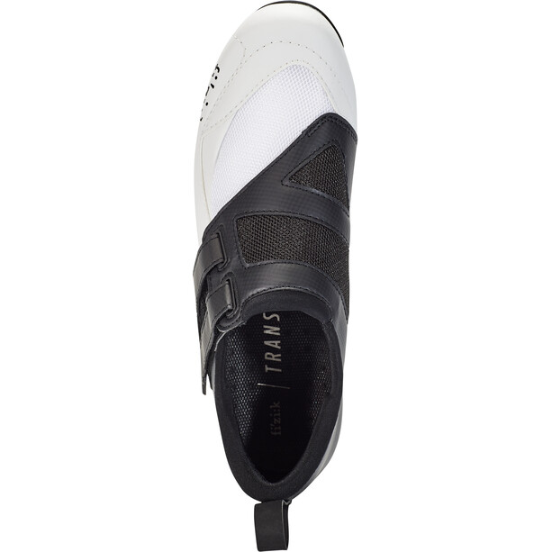 Fizik Transiro Powerstrap R4 Chaussures de triathlon, black/white