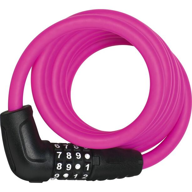 ABUS Numero 5510 Combi Spiralkabelschloss 180cm SCMU rosa