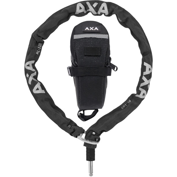 Axa RLC Kæde til Defender 100cm + sikkerhedstaske, sort