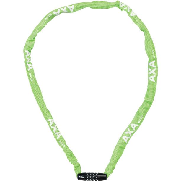 Axa Rigid Code Chain Lock 120cm green