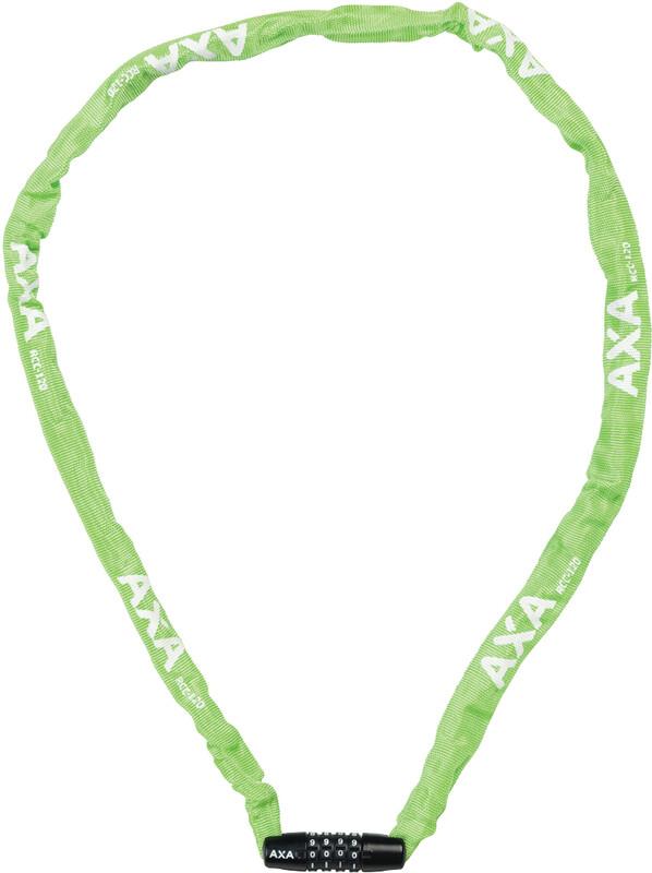 Axa Rigid Code Kettenschloss 120cm grün  2019 Zahlenschlösser