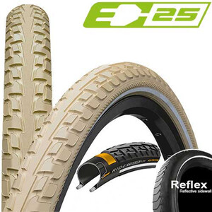 """Continental RIDE Tour  Wired-on Tire26"""" クリーム"""