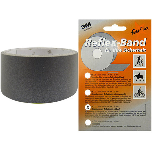 fasi Reflexband 1m x25mm, selbstklebend silber