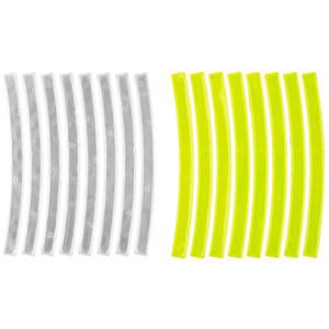 M-Wave Stripes Reflexaufkleber 3M gelb/weiß gelb/weiß
