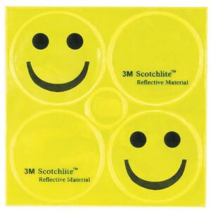 M-Wave Smile Autocollant réfléchissant 3m, jaune jaune