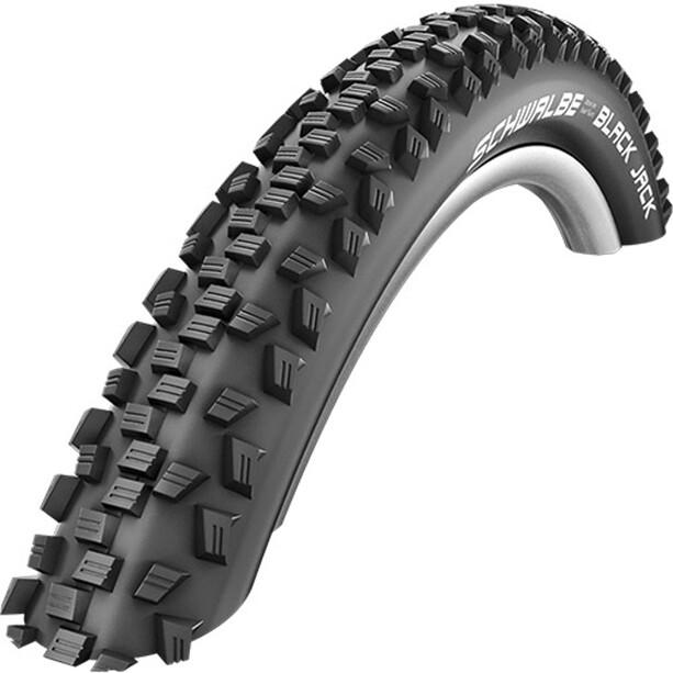 "SCHWALBE Black Jack Active Clincher Tyre K-Guard Black 'n' Roll 12x1.90"", noir"