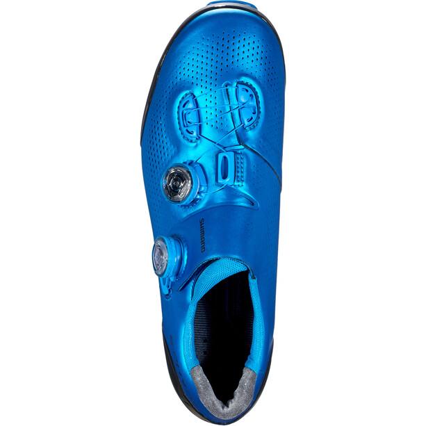 Shimano SH-XC9 S-Phyre Chaussures de cyclisme Large Homme, bleu