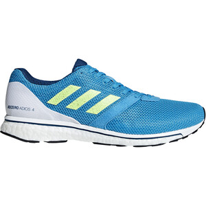 adidas Adizero Adios 4 Schuhe Herren shock cyan/hi-res yellow/legend marine shock cyan/hi-res yellow/legend marine