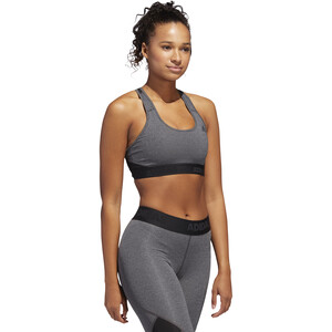 adidas Don't Rest Alphaskin Sport H Bra Dam dark grey heather/black dark grey heather/black
