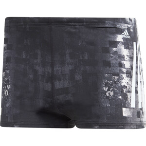 adidas Pro 3-Stripes AOP Boxershorts Herren black/ash grey black/ash grey