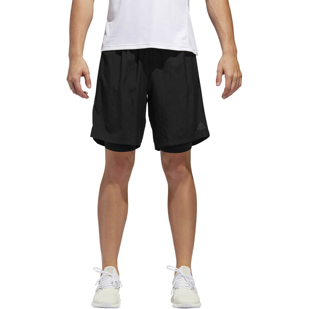 "adidas Own The Run 5"" 2in1 Shorts Herren black"