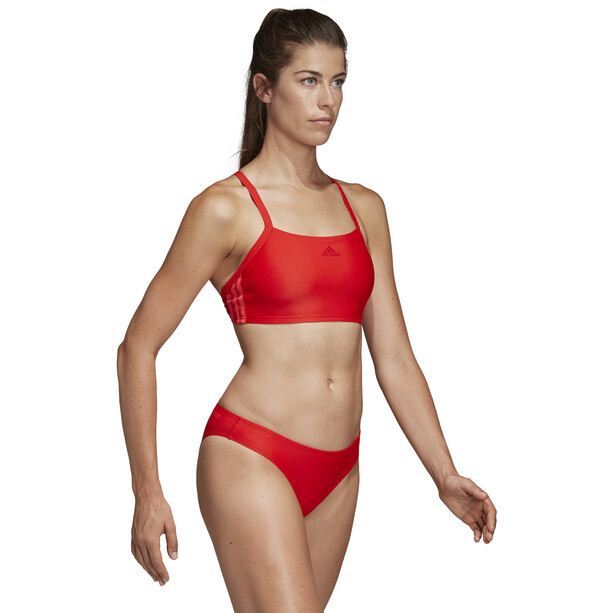 adidas Fit 3-Stripes Infinitex Bikini Damen active red
