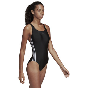 adidas Fit 3S Swimsuit Damer, black/white black/white