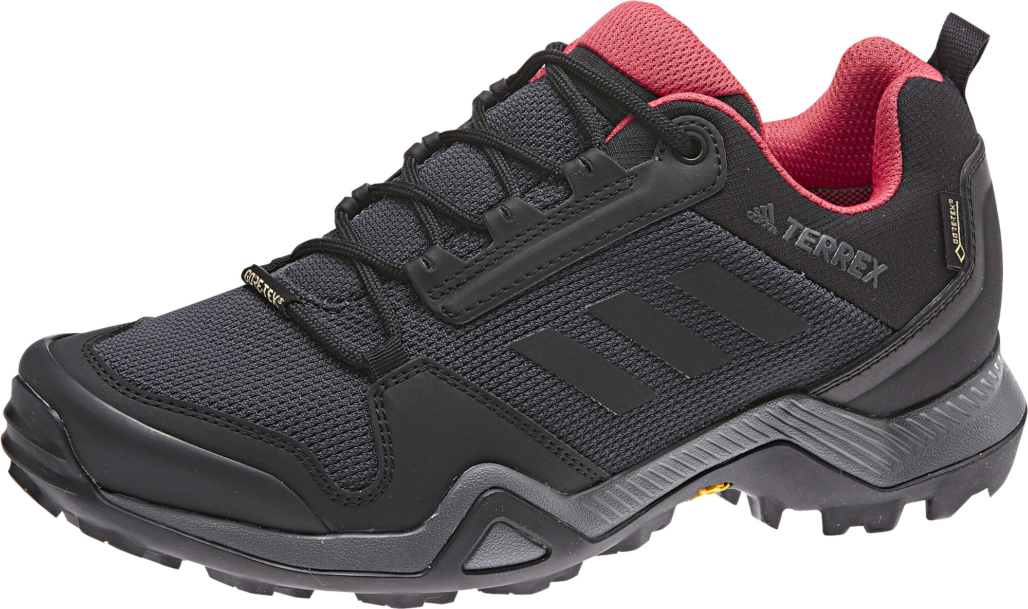 adidas TERREX AX3 Gore-Tex Wanderschuhe Wasserdicht Damen carbon/core  black/active pink