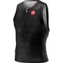 Castelli Free Tri T-shirt zippé Homme, noir