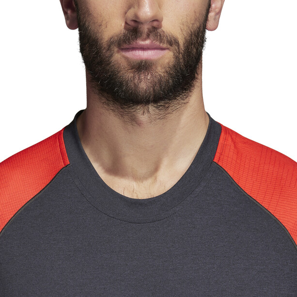 adidas TERREX Trail Cross Langarmshirt Herren hi-res red/carbon