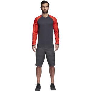 adidas TERREX Trail Cross Langarmshirt Herren hi-res red/carbon hi-res red/carbon