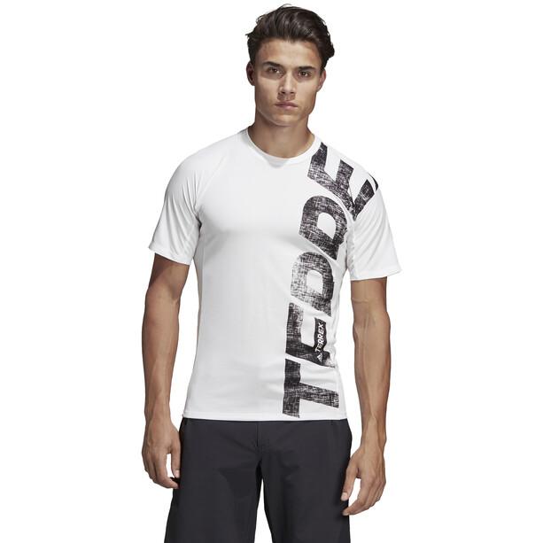 adidas TERREX Trail Cross T-Shirt Herren white
