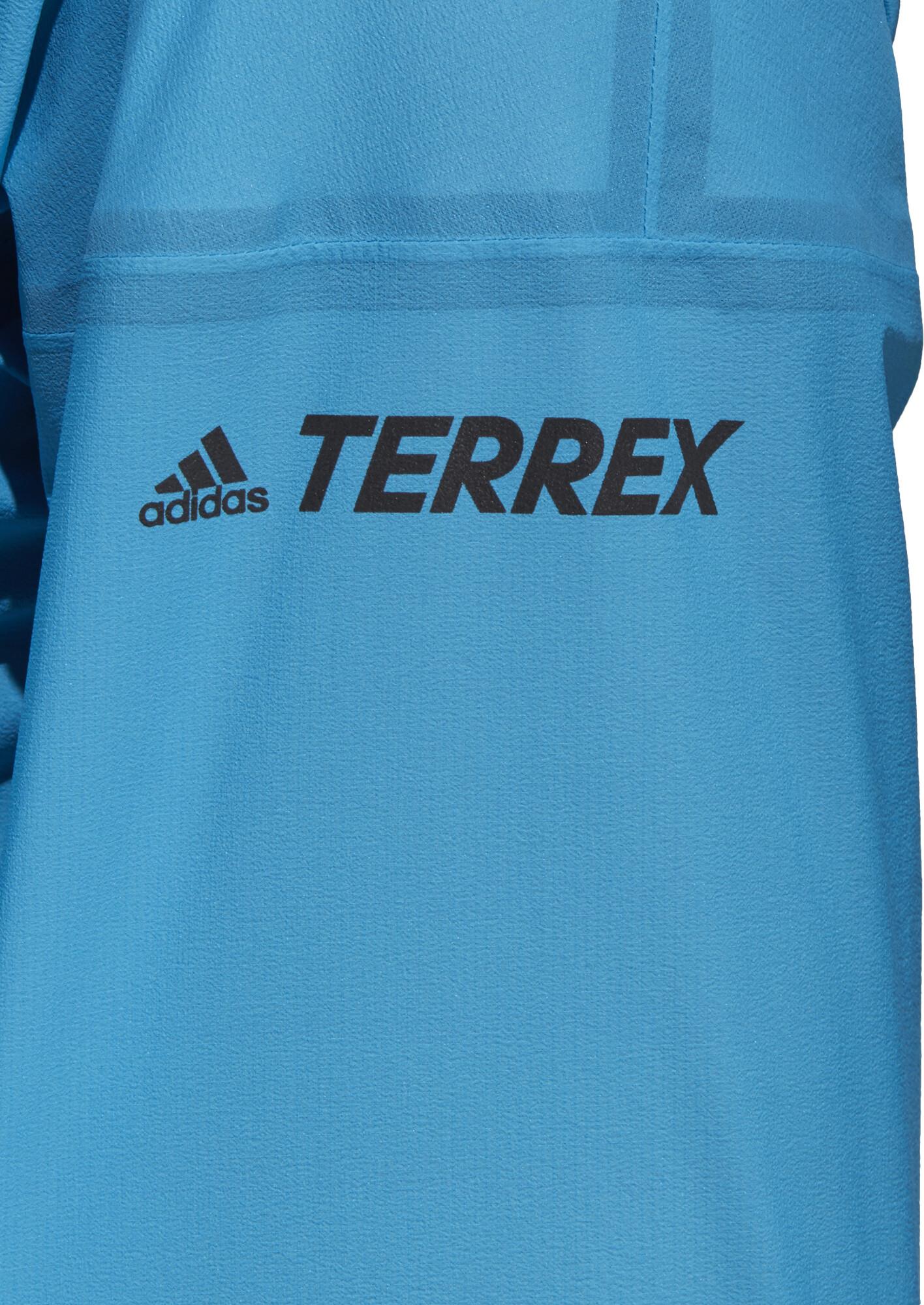 adidas TERREX Agravic 3L Jacke Damen shock cyan