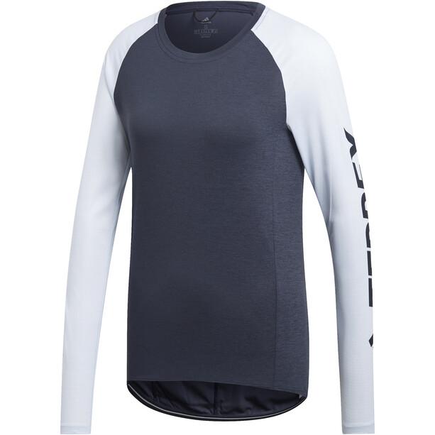 adidas TERREX TrailCros Langarmshirt Damen legend ink/black