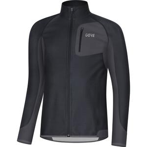 GORE WEAR R3 Partial Gore Windstopper Shirt Herren schwarz/grau schwarz/grau
