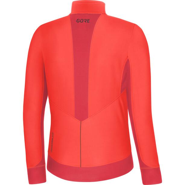GORE WEAR R3 Partial Gore Windstopper Shirt Damen lumi orange/hibiscus pink