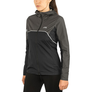 GORE WEAR R7 Partial Gore-Tex Infinium Hooded Jacket Dam black/terra grey black/terra grey