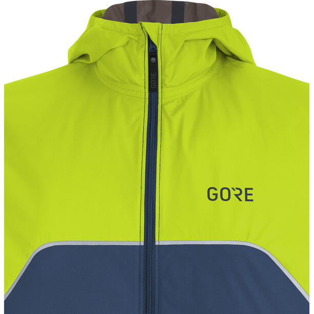 GORE WEAR R7 Partial Gore-Tex Infinium Kapuzenjacke Damen deep water blue/citrus green