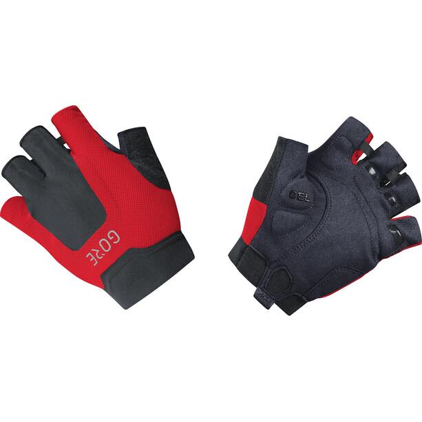 GORE WEAR C5 Kurzfinger-Handschuhe schwarz/rot