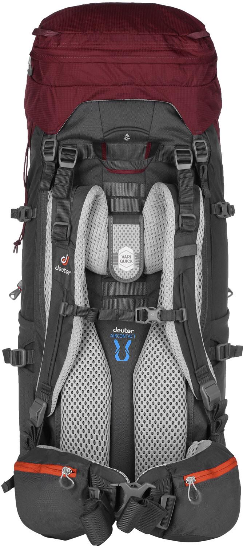 deuter aircontact lite 45 10 sl backpack women maron graphite. Black Bedroom Furniture Sets. Home Design Ideas