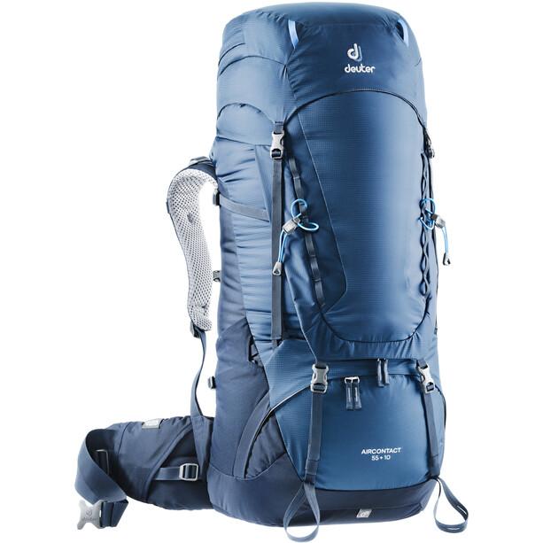 deuter Aircontact 55 + 10 Rucksack blau