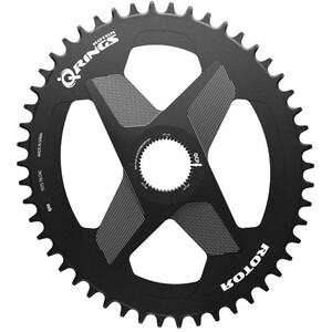 Rotor Q-Ring Chainring Oval 1x DM Alu ブラック